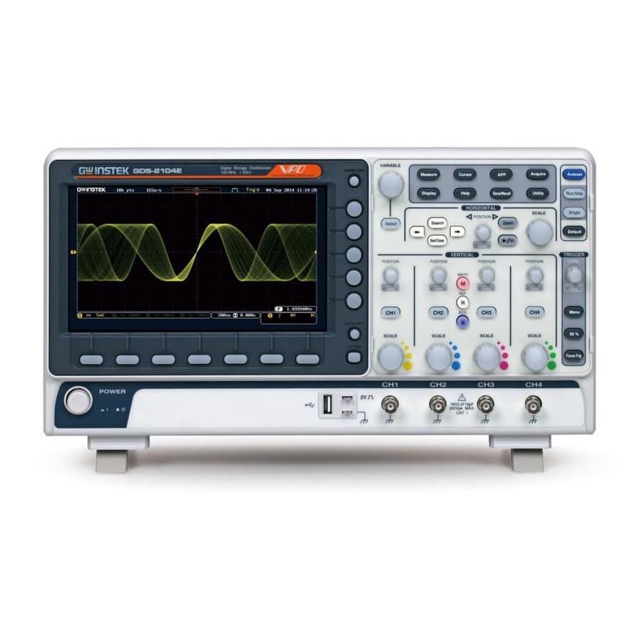 Instek GDS-2204E Digital Storage Oscilloscope