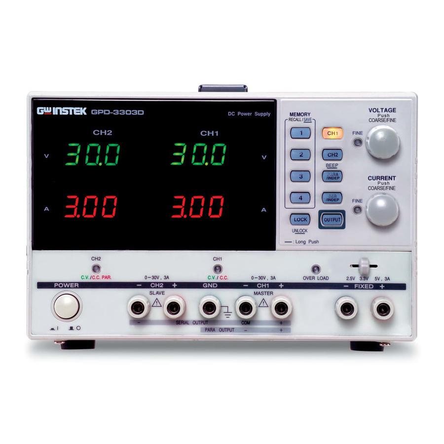 Instek GPD-3303D Triple Output Power Supply