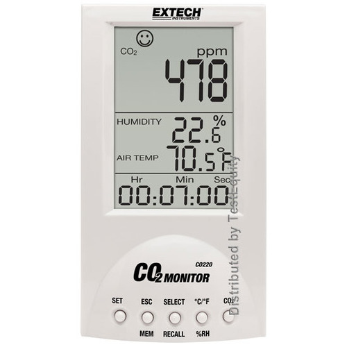 Extech CO220 Desktop Indoor Air Quality CO2 Monitor