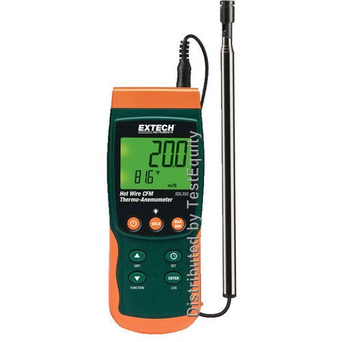 Extech SDL350 Thermo-Anemometer/Datalogger