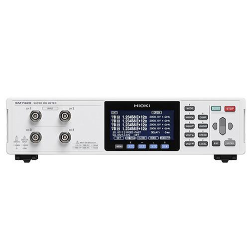 Hioki SM7420 Super Megohm Meter, High Resistance, 4CH Microcurrent Inspection Device, SM Series