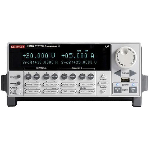 Keithley 2602B Dual Channel SourceMeter, 3 A DC, 10 A Pulse