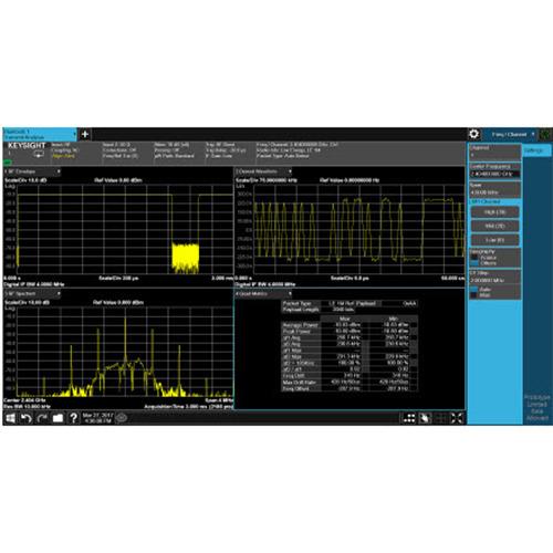 Keysight N9081EM0E Bluetooth Measurement Application, Multi-touch UI, PathWave X Series