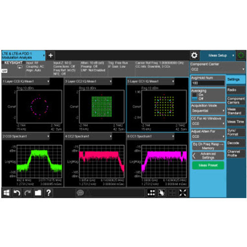 Keysight N9082EM0E LTE and LTE-Advanced TDD Measurement Application, Multi-touch UI, PathWave X Series