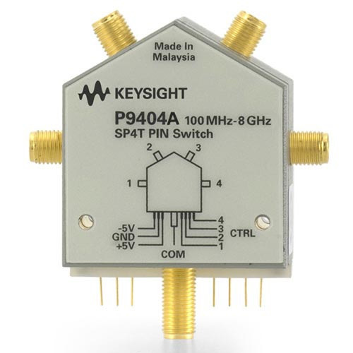 Keysight P9404A PIN Solid State Switch, 100 MHz to 8 GHz, SP4T