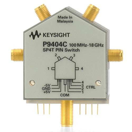 Keysight P9404C PIN Solid State Switch, 100 MHz to 18 GHz, SP4T