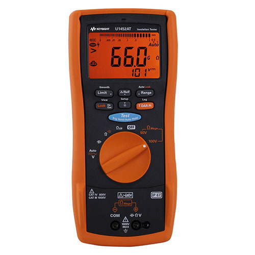 Keysight U1452AT Telecommunications Insulation Resistance Tester, 50V to 100V