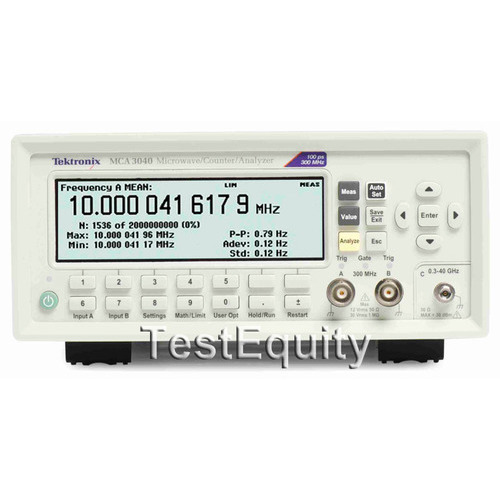 Tektronix MCA3040 Frequency Counter/Timer   TestEquity