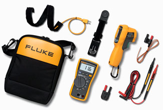 Fluke 116/62 MAX+, HVAC Digital Multimeter and IR Thermometer Combo Kit