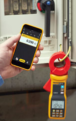 Fluke 1630-2 connects with your phone/tablet via Fluke Connect