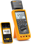Fluke 787B connects with your phone/tablet via Fluke Connect