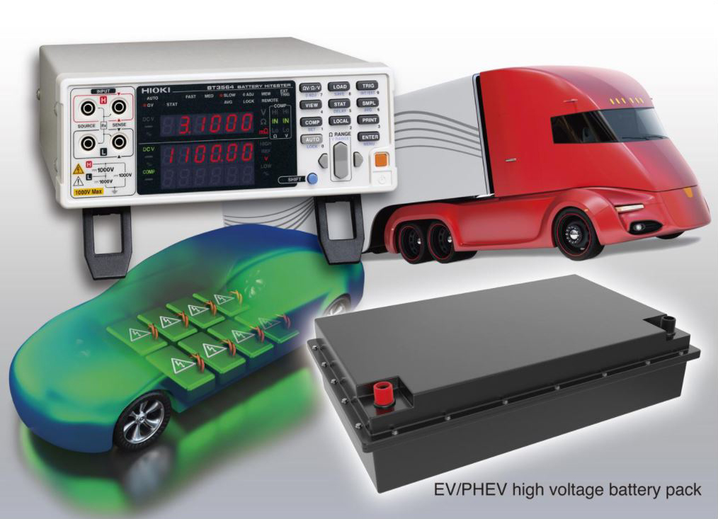 Hioki High-Voltage EV and PHEV Battery Tester BT3500 Series