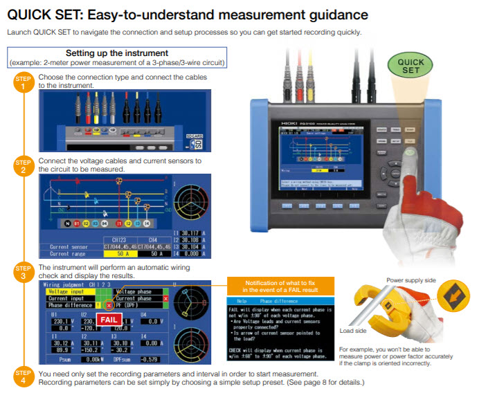 Hioki PQ3100 Measurement Guidance