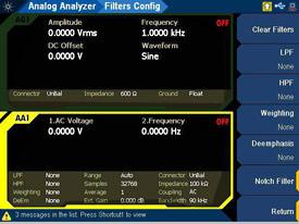 Keysight U8903B Programmable filters