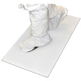 Adhesive mats for contamination control of foot and wheel-borne contaminants