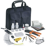Fiber optic, fiber prep and fiber termination tool kits