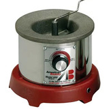 Solder pots and parts for solder pots including pot heating elements