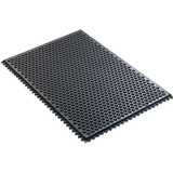 Static free and dissipative table and floor mats for the cleanroom