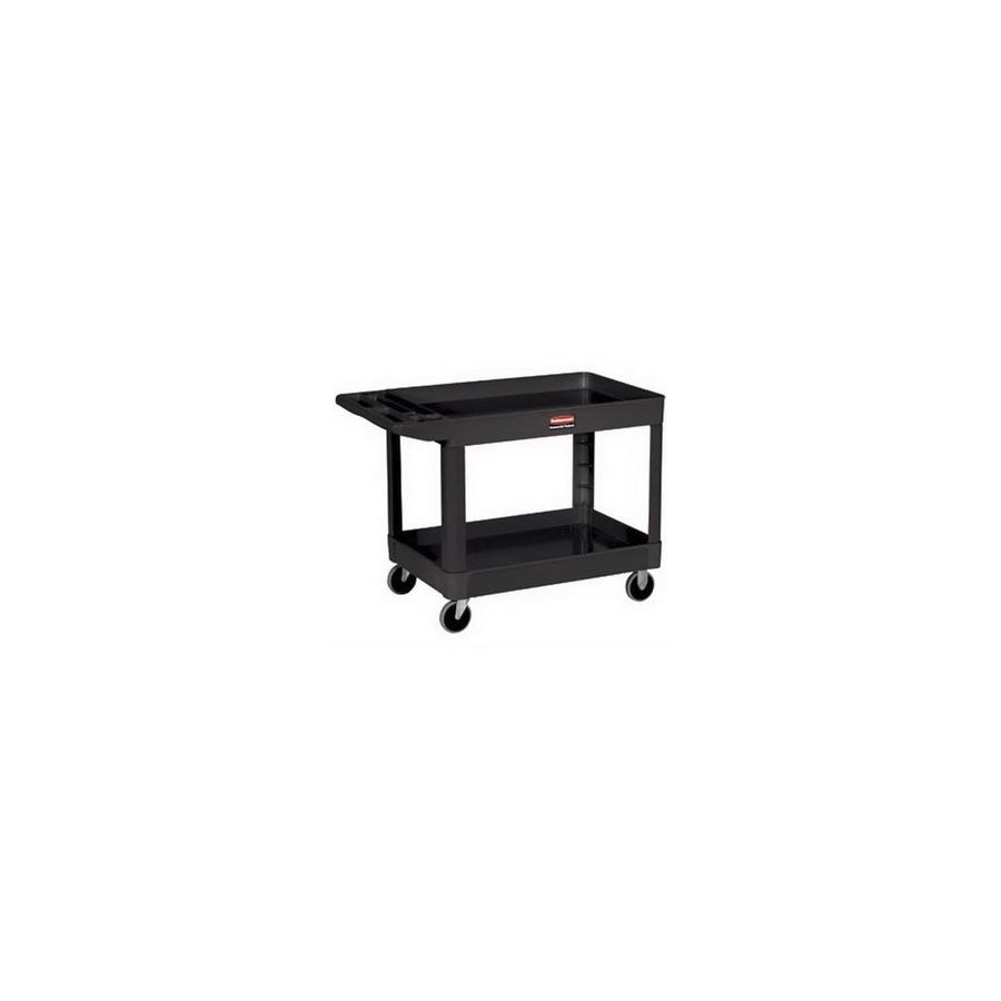 Rubbermaid Fg452088bla Utility Cart 4520 Series Black Two Shelves Techni Tool